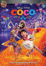 Coco (DVD, 2018) Disney Pixar Family Animation Adventure US Free Fast Shipping
