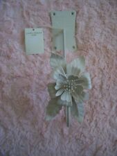 LAURA ASHLEY ROSIE CREAM METAL FLOWER CURTAIN TIE BACK NEW WITH TAG