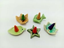5 pcs Ceramic Burners Fragrance Miniature Cone Incense Holder Style Thai Home