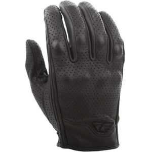 Fly Street Thrust Perforated Leather Motorcycle Gloves