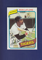 Ron LeFlore 1980 TOPPS Baseball #80 (NM) Detroit Tigers