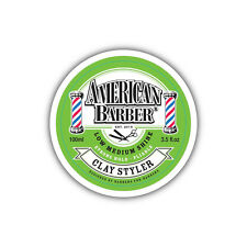 American Barber Clay Styler 2 X 100ml Low to Medium Shine Genuine Americanbarber