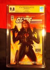 G.I. JOE:A REAL AMERICAN HERO # 252 CGC SS 9.8 ADAM HUGHES COVER BARONESS IDW