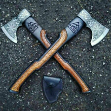 More details for smith custom hand forged carbon steel viking axe with rose wood shaft handle,