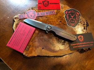 Holt Bladeworks Haptic Prestige Knife Stone Washed 2.0 M390 #930 Starburst