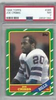 1986 Topps football card #385 Joe Cribbs, Buffalo Bills graded PSA 7