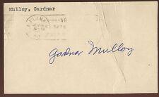 Gardnar Mulloy Signed 1950 GPC Postcard Index  Autographed Tennis Hall of Fame