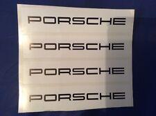4x Porsche Racing Decals - Slotcar trackside 4x decals - Scalextric