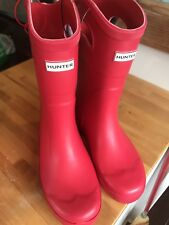 Hunter for Target Kids' Tall Rain Boots - RED size 4