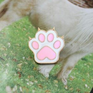 Dog Paw Cartoon Brooch Pink Cute Pet Feet Printed Children Friendship Jewelry