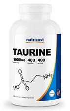Nutricost Taurine 1000mg, 400 Capsules - Gluten Free & Non-GMO
