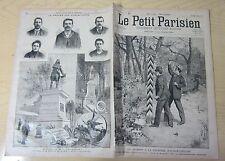 Le petit parisien 1892 169 Incident frontière Alsace-Lorraine + ravachol
