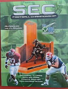 1999 FLORIDA VS ALABAMA FOOTBALL PROGRAM  SEC CHAMPIONSHIP GAME