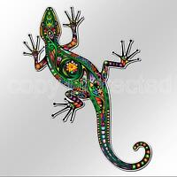 funny car bumper sticker colourful gecko lizard 82 x 119mm vinyl colorful decal