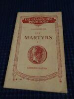 Libro Ancien - Chateaubriand Las Mártires Hatier Vintage 22