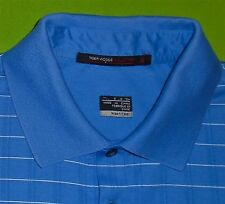 Tiger Woods Nike Golf Polo Shirt Fit-Dry Wicking Fabric Blue S/S Men size Small