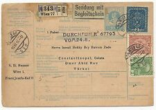 Austria Scott #164 #157 #113 on Postal Stationery Cover to Turkey