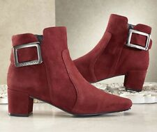 NEW WOMENS SACHA LONDON NOVEL RUST COLOR SUEDE BOOTIE BOOT SHOE SIZE 8.5 M