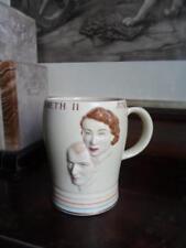 Crown Devon Commemorative Queen Elizabeth II Coronation Mug c.1953