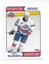 2014-15 Rochester Americans (AHL) Matt MacKenzie (Springfield Thunderbirds)