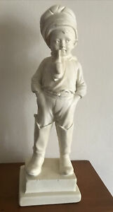 """Victorian Boy With Pipe 14""""height with base 4.5""""X4"""""""