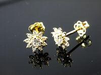 585 Gold Ohrstecker Sternchen 6,5 mm mit 1 Paar mit Zirkonia Steinen