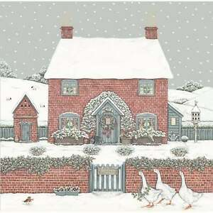 Sally Swannell Christmas Cottage Box of 8 Christmas Cards
