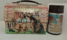 Vintage 1977 Metal Grizzly Adams & Bear Ben Dome Lunchbox and Thermos Set