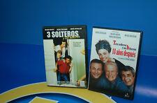 Lote 2 peliculas DVD-3 SOLTEROS Y UN BIBERON + 3 SOLTEROS -18 AÑOS DESPUES