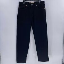 Levi's 550 relaxed fit jeans black wash mens tag sz 34x32