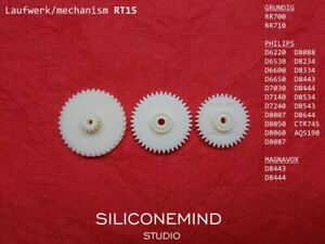 Gear wheels (3pcs) for PHILIPS D8443, GRUNDIG RR700, MAGNAVOX D8443 +others