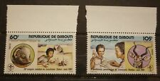 OLD BOY SCOUT GIRL GUIDE STAMP COLLECTION, DJIBOUTI 1981 MINT PAIR