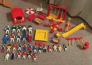 Vintage Playmobil 3416 Playground with Figures And Extras 1980's