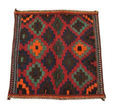 fin persan Kelim sofreh 92 x 88 cm Laine à la main kélim sofreh 1366