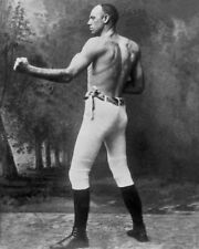 GLOSSY PHOTO PICTURE 8x10 Bob Fitzsimmons Practicing Boxing