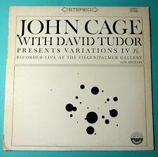 JOHN CAGE Variations IV David Tudor Avant-Garde NM Everest 3132 LP 1968