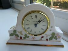 *RARE* WEDGWOOD WILD STRAWBERRY MANTEL CLOCK - 4.25 INCH TALL