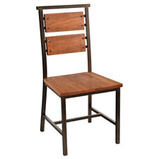 New Transit Steel Chair with Distressed Oak Wood Seat and Back