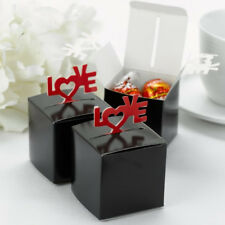New Hbh Black and Red Pop-Up Love Favor Boxes 25 pc.