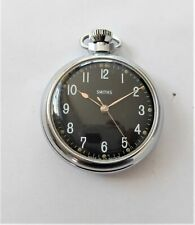 1940'S / 50'S METAL CASED SMITHS LEVER POCKET WATCH IN GOOD WORKING ORDER