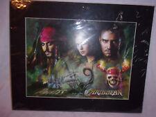 "2006 Haiyan Pirates of the Caribbean Pop Art Print Dead Man's Chest 20""x16"" Mat"
