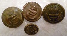 Button- WW1 Royal Navy Buttons 22, 13 mm 4 pcs Jennens, Firmin,B Ltd Etc (Org*)
