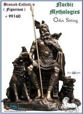 Odin,(Sitting) Viking/Norse God Figurine,Bronzed,Myths - Legends,Veronese,#99160