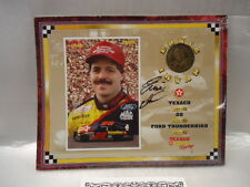 """1994 Ernie Irvan Optimum Sports   8 X 10 Card with Coin  """"Signed"""""""