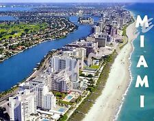 FLORIDA - MIAMI North Beach - Travel Souvenir Flexible Fridge Magnet