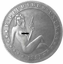 Deadly Weapons Morgan Dollar Heads Tails Good Luck Challenge Token