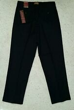 NEW   MICHAEL BRANDON 30 x 30 Navy wool blend dress pants flat front