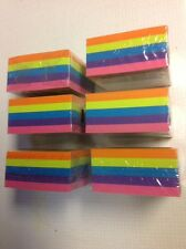 Post-It Sticky Notes 3x3, Assorted Colors, 2400 Total Sheets 6 pads. Made in US