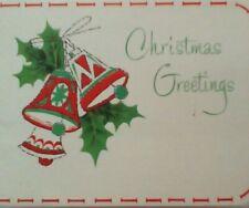 Vintage Christmas Money Card - Money Check Pocket - Envelope - Forget-Me-Not
