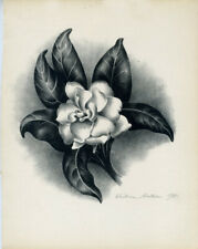 """GARDENIA,"" AN ORIGINAL SIGNED LITHOGRAPH BY VICTORIA HUTSON HUNTLEY"